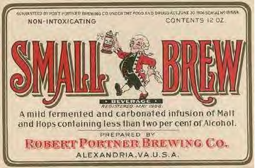 Robert Portner Small Brew Beer Label