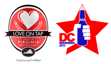Love on Tap Logo and DC Beer Week Logo