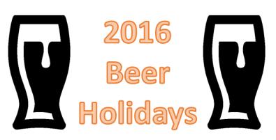2016 Beer Holidays